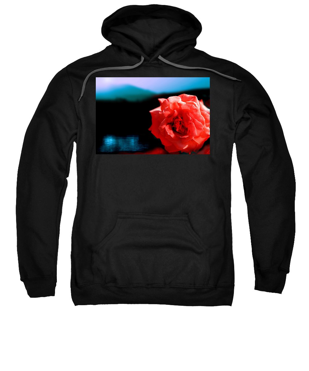 Rose Sweatshirt featuring the photograph Rose Lake by Mal Bray