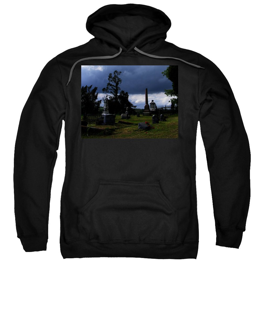Landscape Sweatshirt featuring the photograph Roses After The Storm by Rachel Christine Nowicki