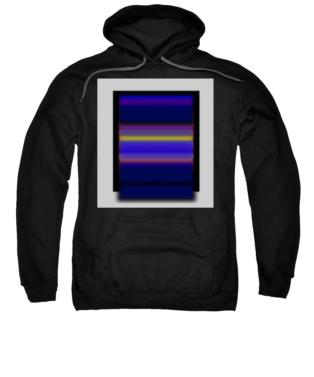 Sunset Sweatshirt featuring the painting Rothko Tv by Charles Stuart