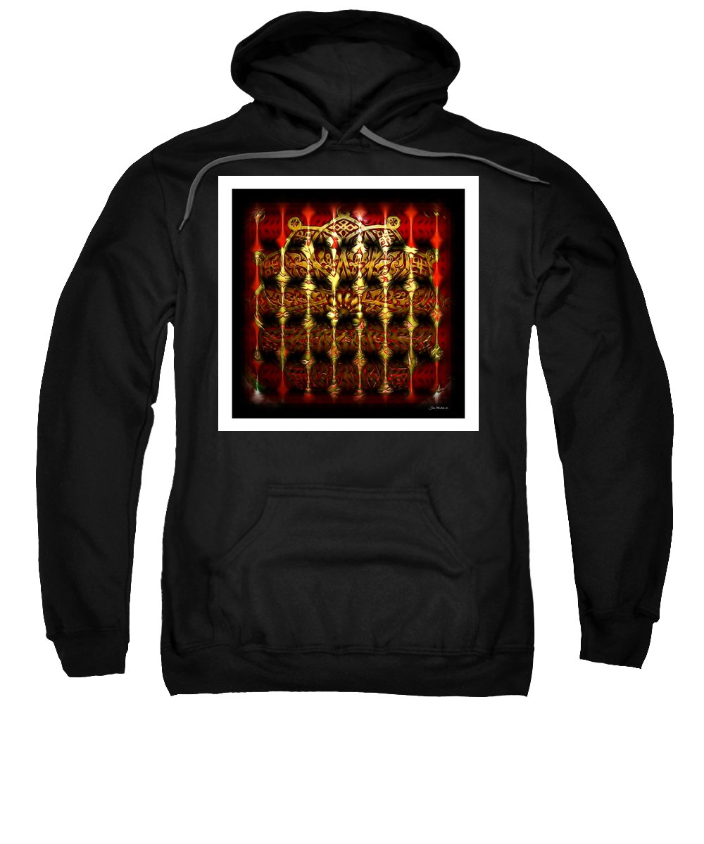 Abstract Sweatshirt featuring the photograph Rounded Abstract by Joan Minchak