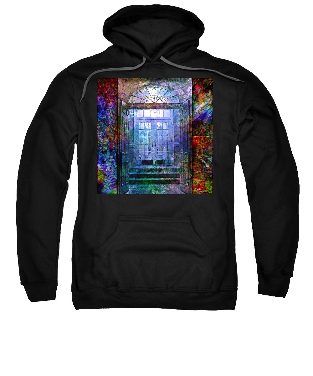 Arch Sweatshirt featuring the digital art Rounded Doors by Barbara Berney