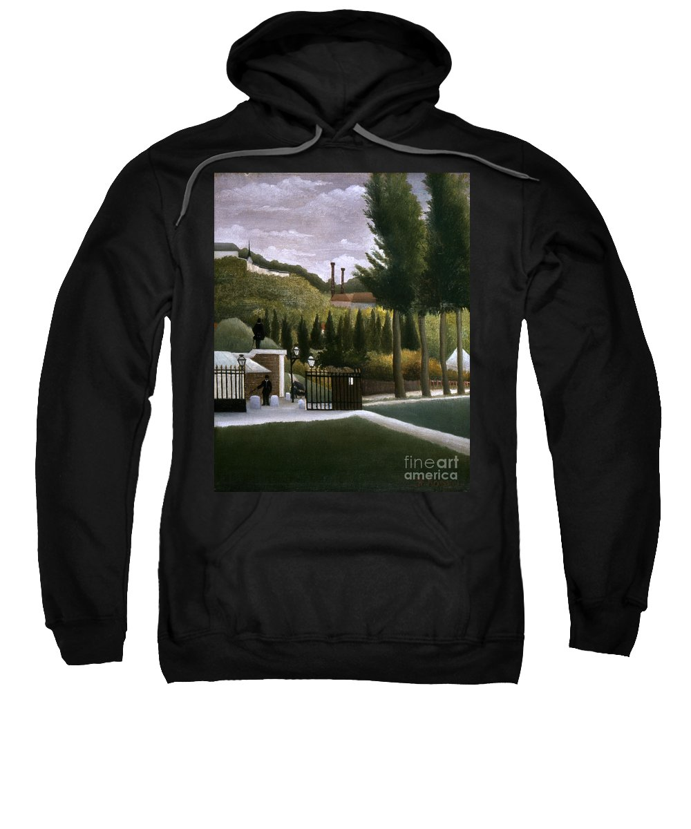 1900 Sweatshirt featuring the photograph Rousseau: House, C1900 by Granger