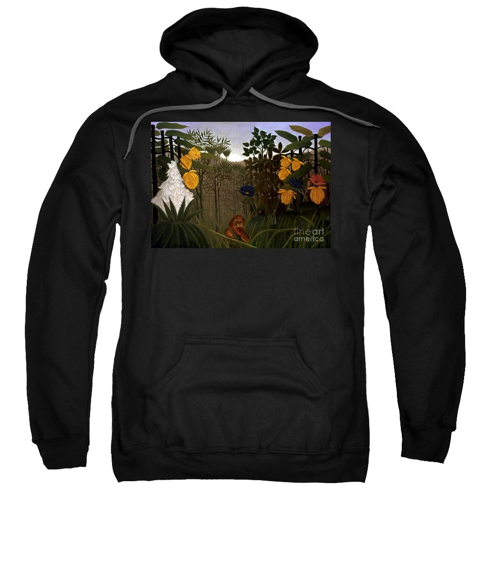 20th Century Sweatshirt featuring the photograph Rousseau: Lion by Granger