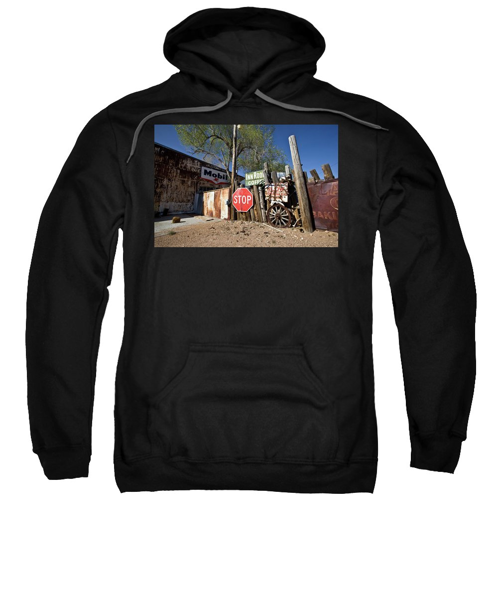 Notice Sweatshirt featuring the photograph Route 66-56 by Avril Christophe