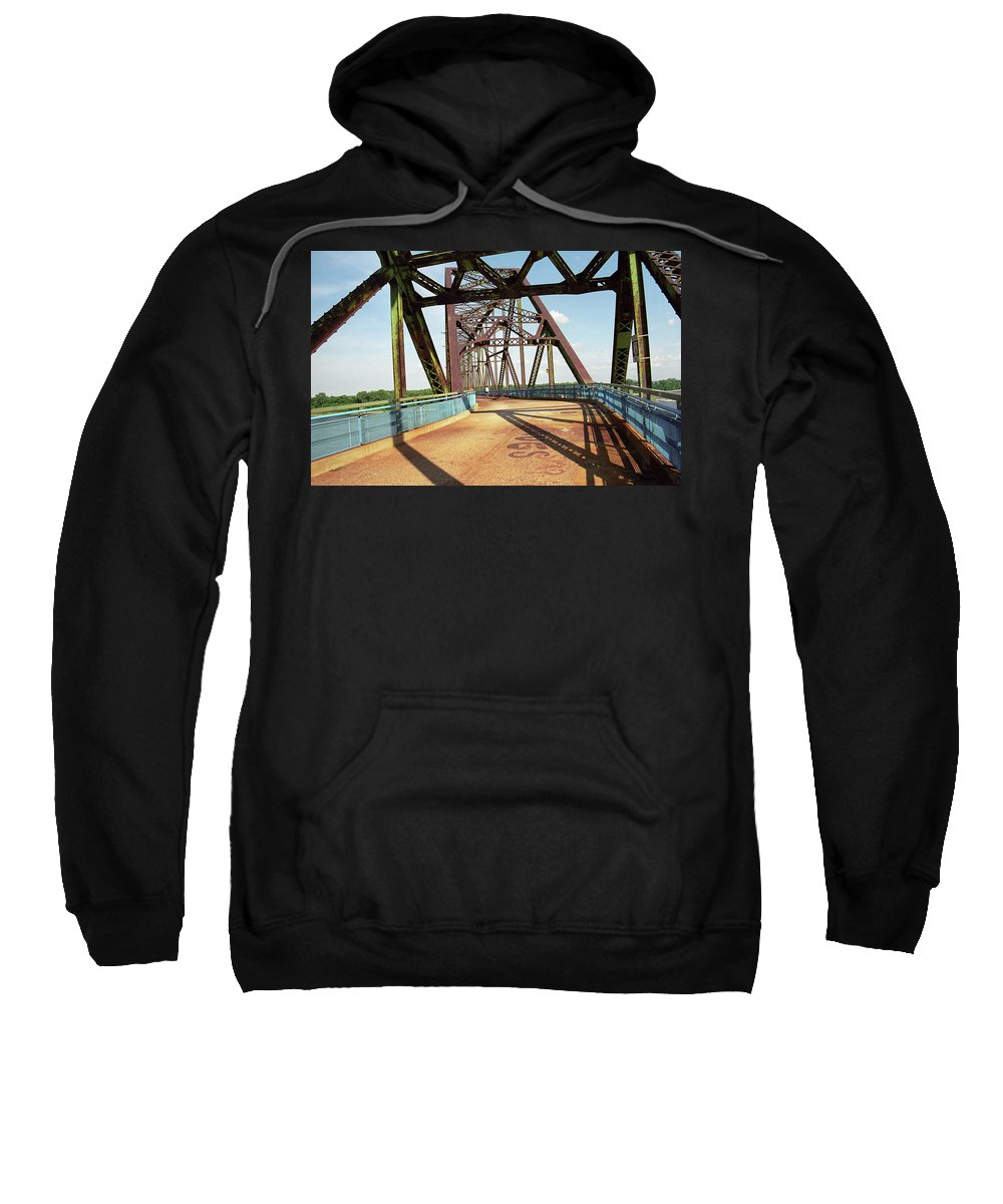 66 Sweatshirt featuring the photograph Route 66 - Chain Of Rocks Bridge by Frank Romeo