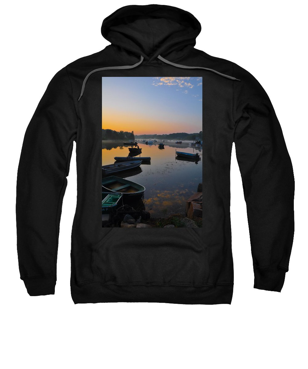 Harbor Sweatshirt featuring the photograph Rowboats At Rest by Catherine Easton