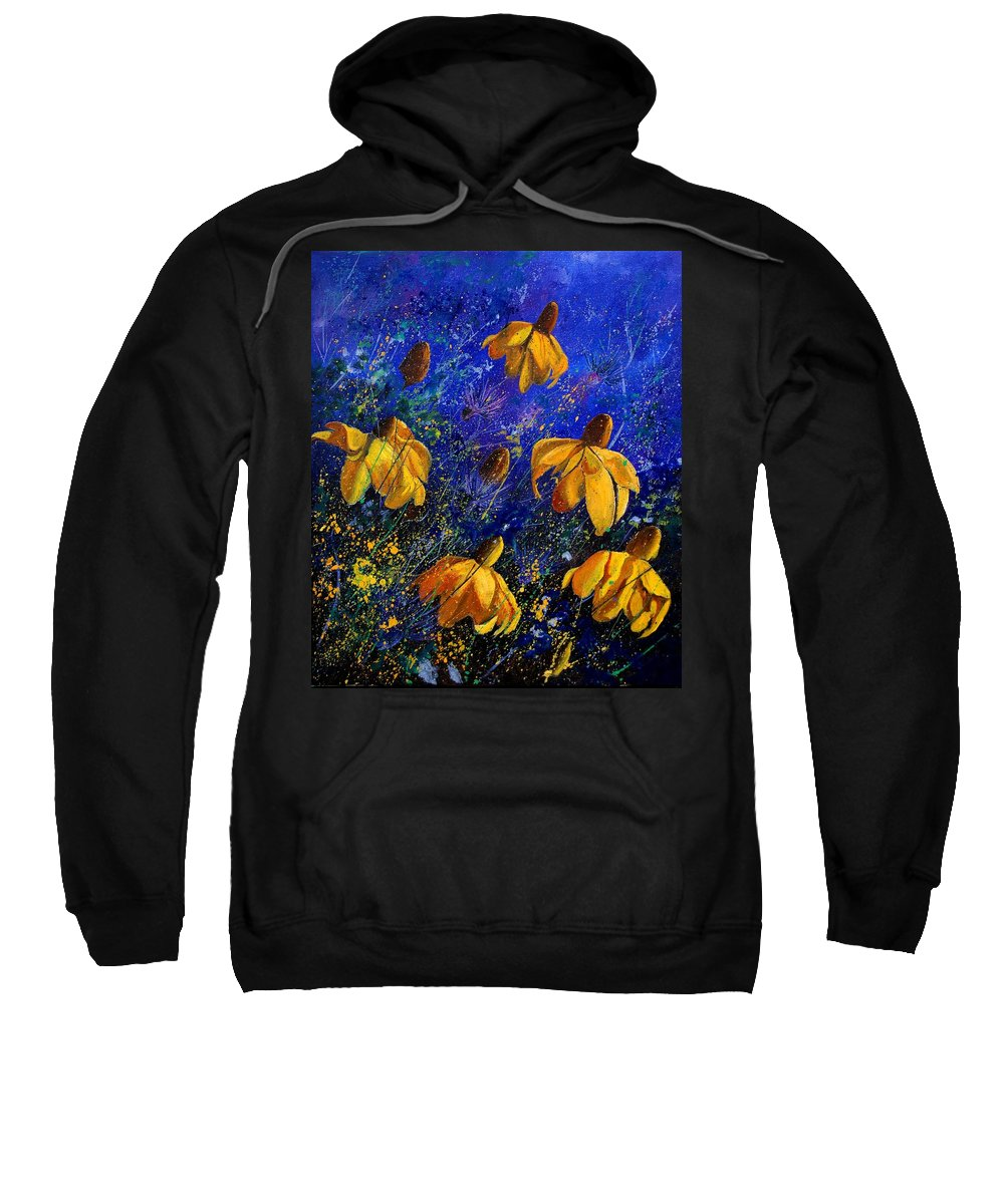 Poppies Sweatshirt featuring the painting Rudbeckia's by Pol Ledent