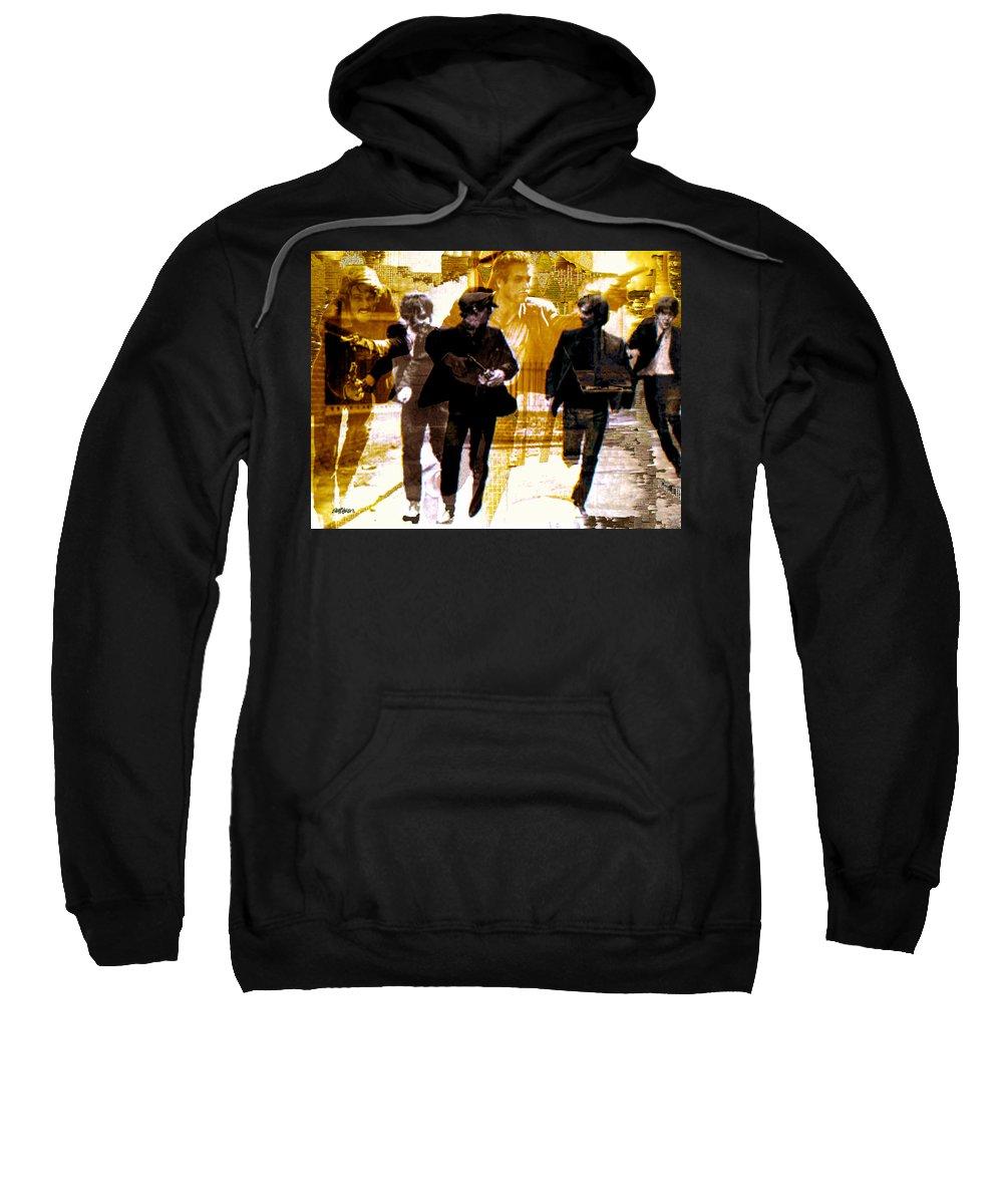 Beatles Sweatshirt featuring the photograph Running Under the Gun by Seth Weaver