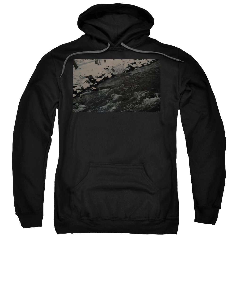 Landscape Sweatshirt featuring the photograph Running Water by Rob Hans