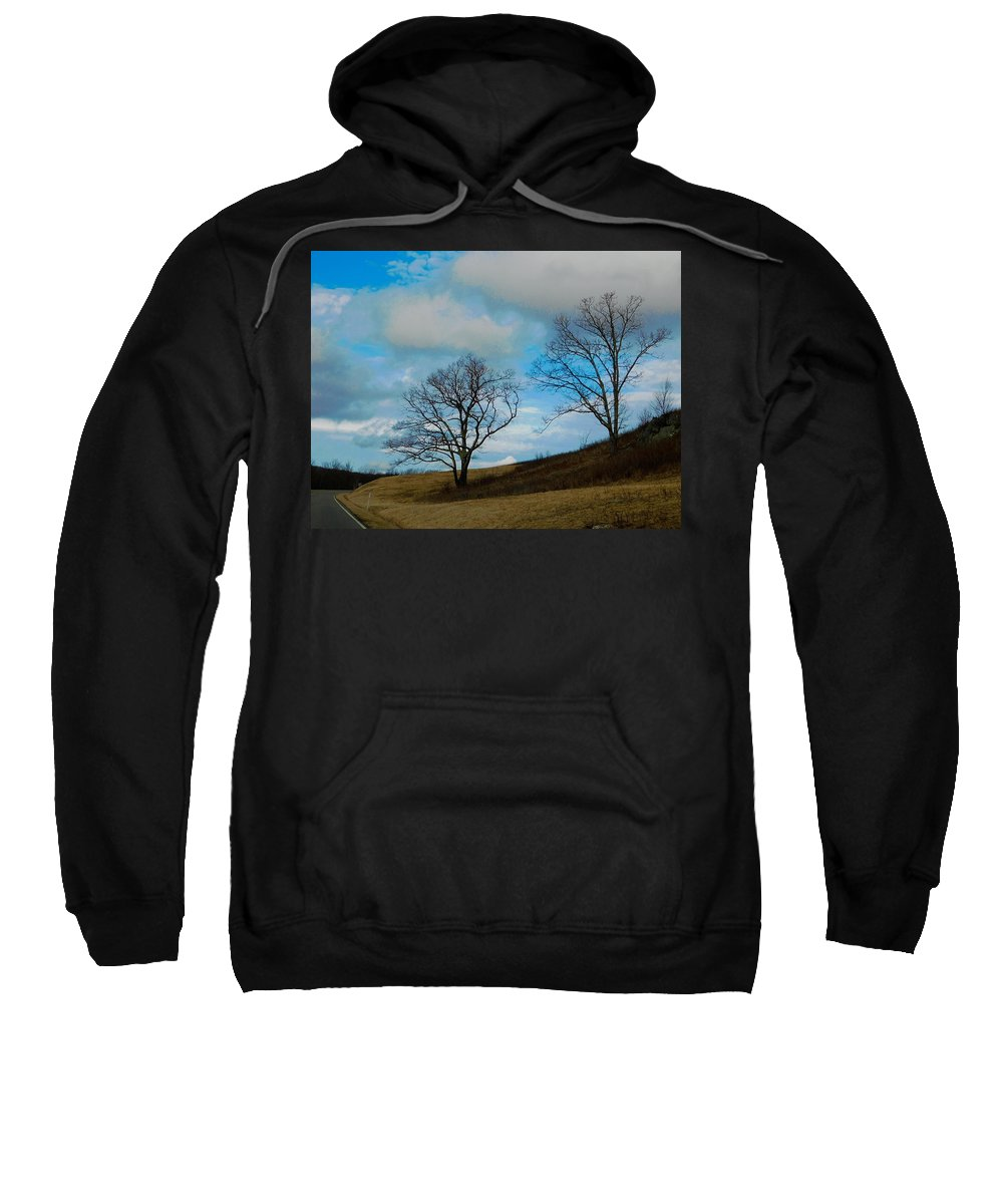 Trees Sweatshirt featuring the photograph Rural Landscape - Skyline Drive by Arlane Crump