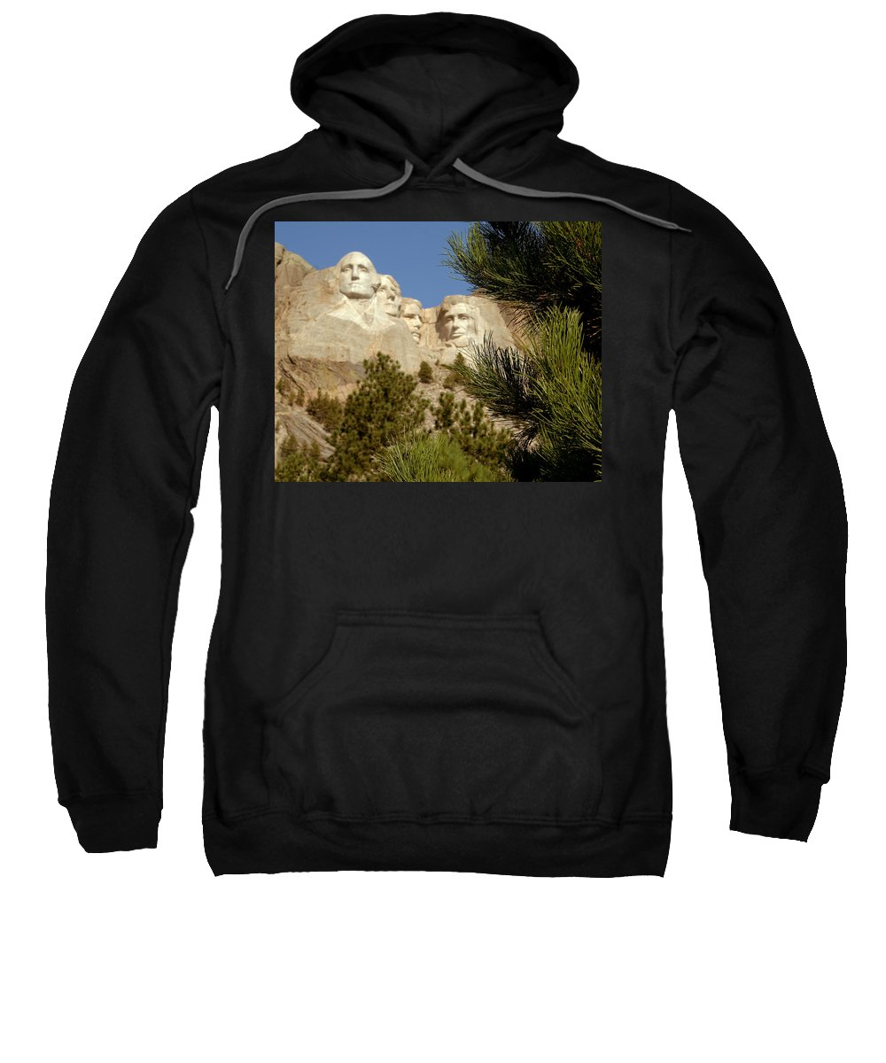 Mount Rushmore Sweatshirt featuring the photograph Rushmore Pine Needles by Mike Oistad