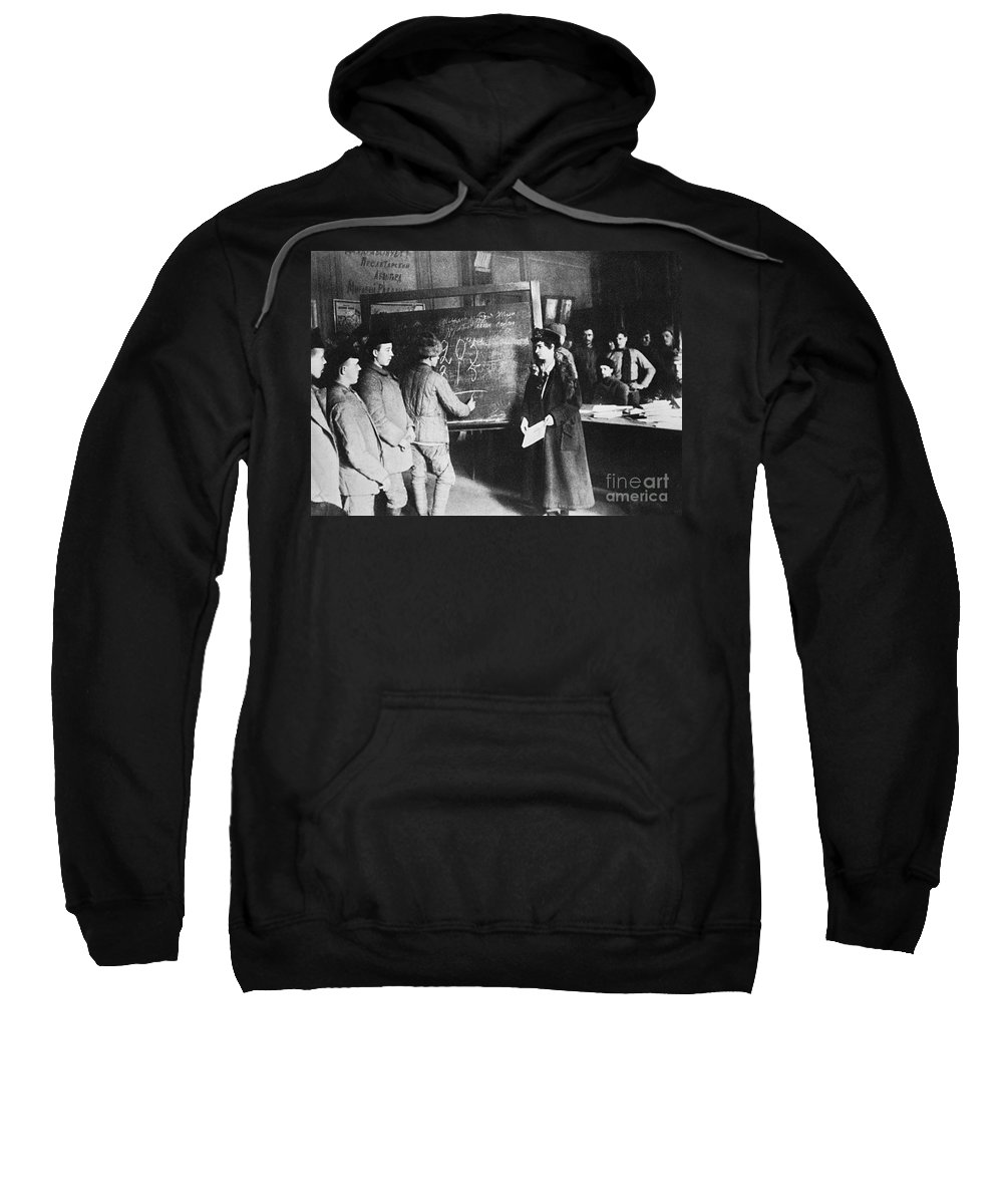 1917 Sweatshirt featuring the photograph Russia: Students, 1917 by Granger