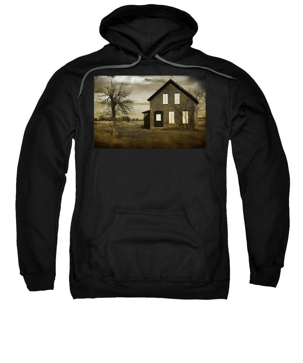 House Sweatshirt featuring the photograph Rustic County Farm House by James BO Insogna
