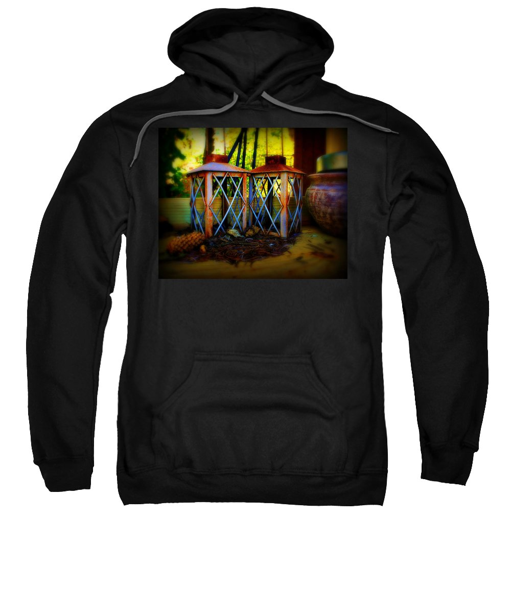 Rust Sweatshirt featuring the photograph Rusty Lanterns  by Perry Webster