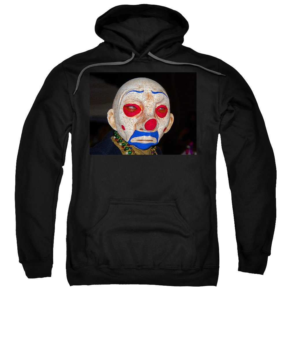 Sad Sweatshirt featuring the painting Sad Clown by David Lee Thompson