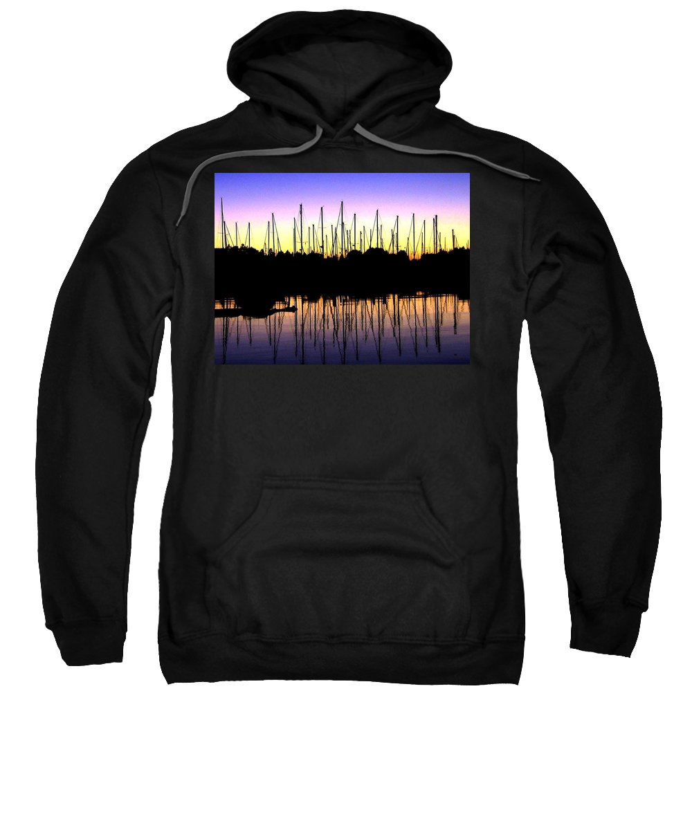Sailboats Sweatshirt featuring the photograph Safe Haven by Will Borden