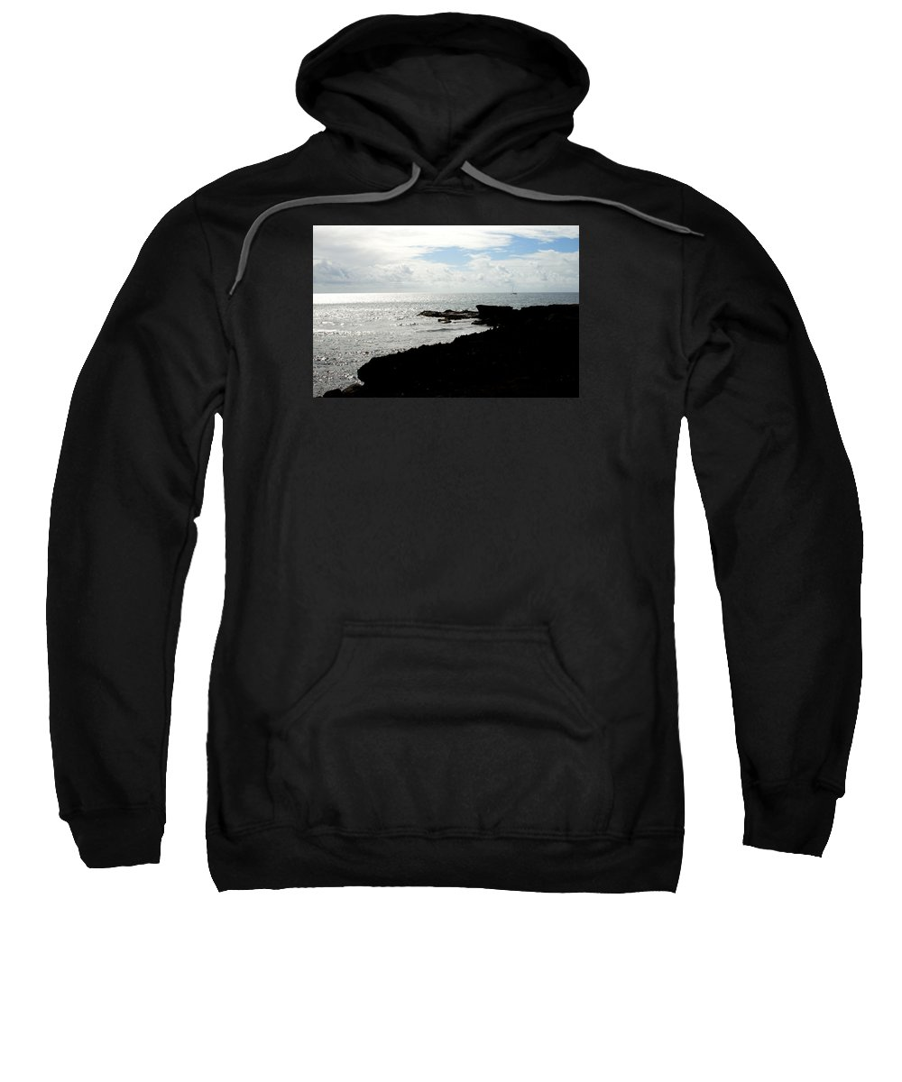 Sailboat Sweatshirt featuring the photograph Sailboat At Point by Jean Macaluso