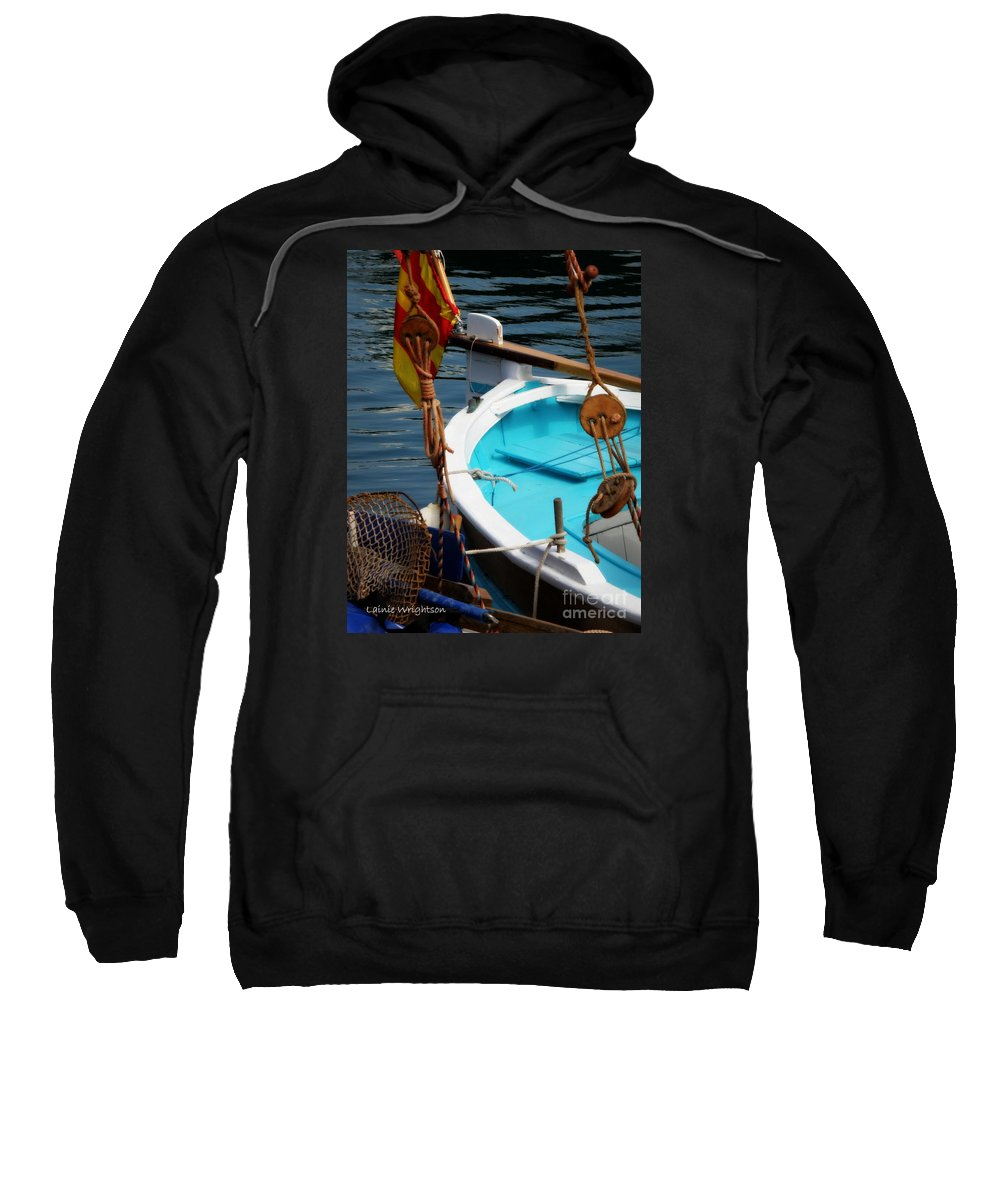 Sailing Sweatshirt featuring the photograph Sailing Dories 1 by Lainie Wrightson