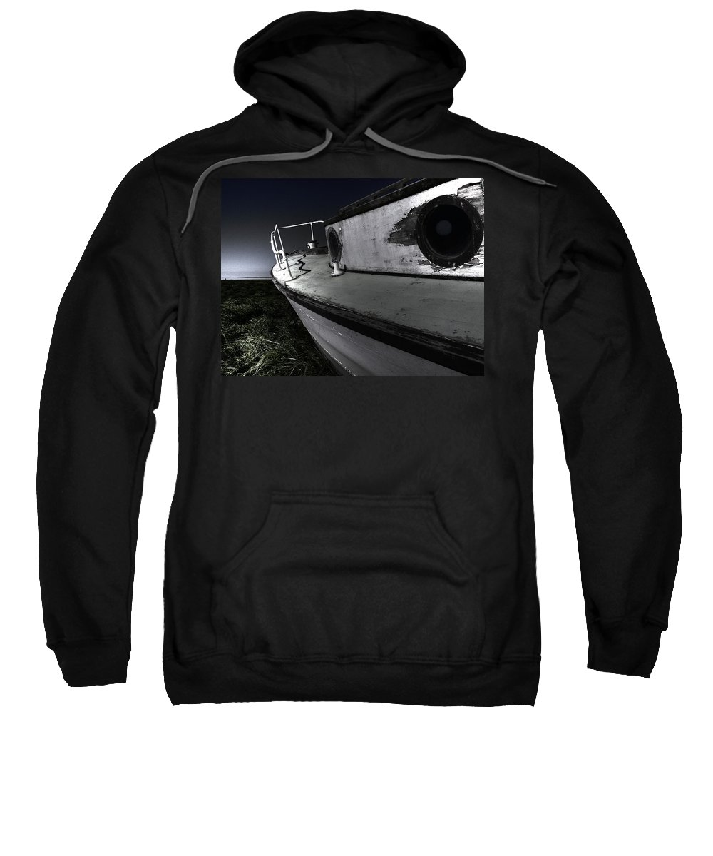 Sailing Sweatshirt featuring the photograph Sailing Land by Kelly Jade King