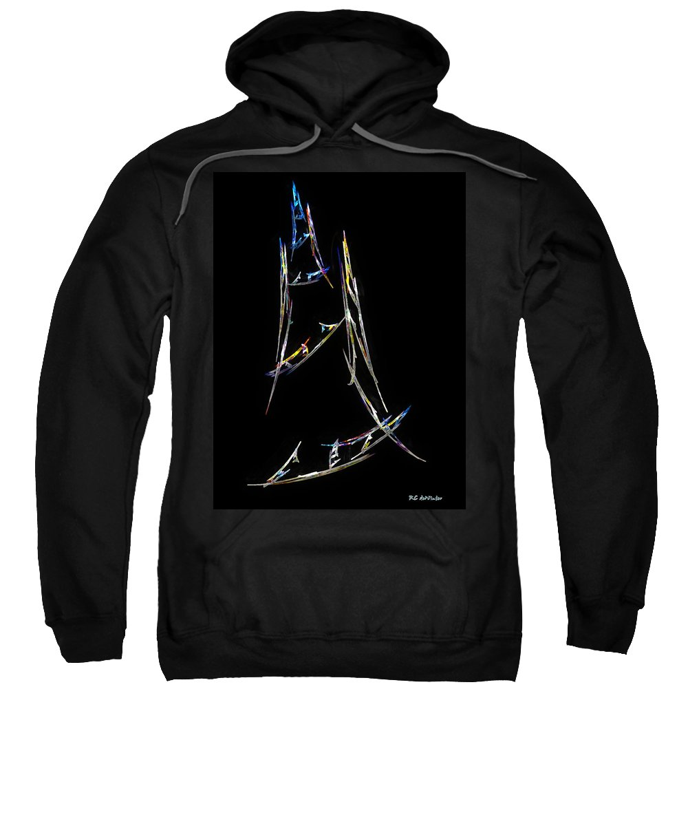 Abstract Sweatshirt featuring the digital art Sailing The South China Sea by RC DeWinter