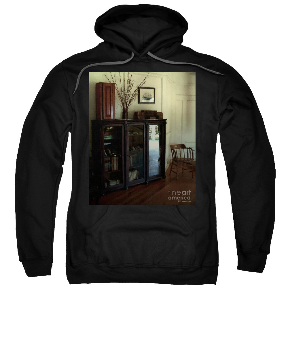 Historic Sweatshirt featuring the painting Sailor's Rest by RC DeWinter