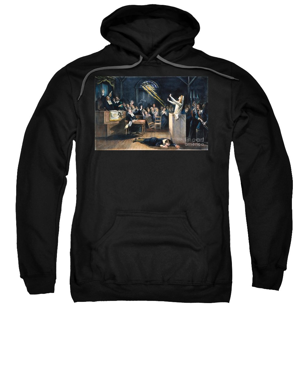 1692 Sweatshirt featuring the photograph Salem Witch Trial, 1692 by Granger