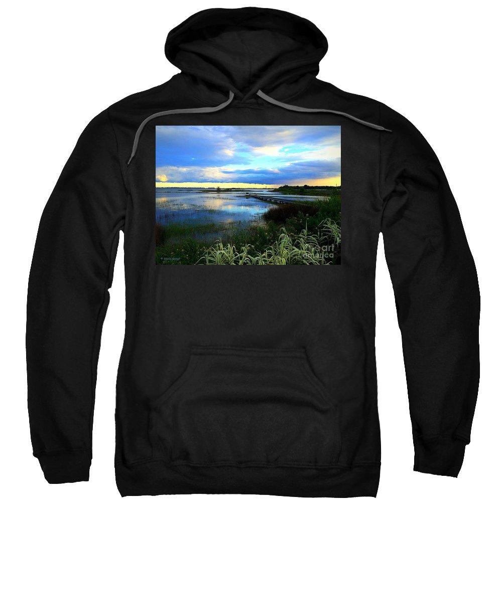 Art Sweatshirt featuring the photograph Salt Marsh by Shelia Kempf