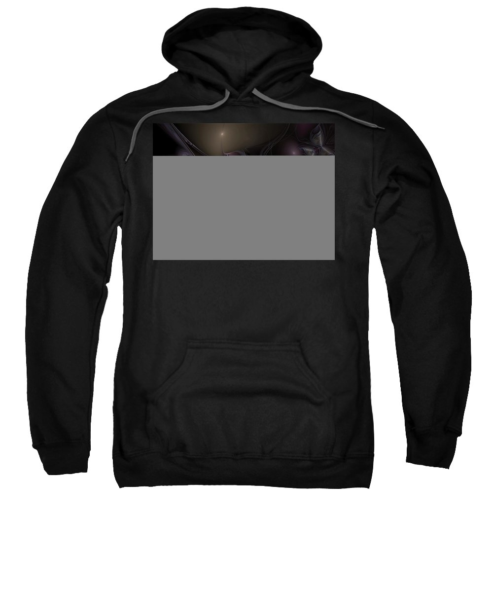Abstract Sweatshirt featuring the digital art Saltating Denouement by Casey Kotas