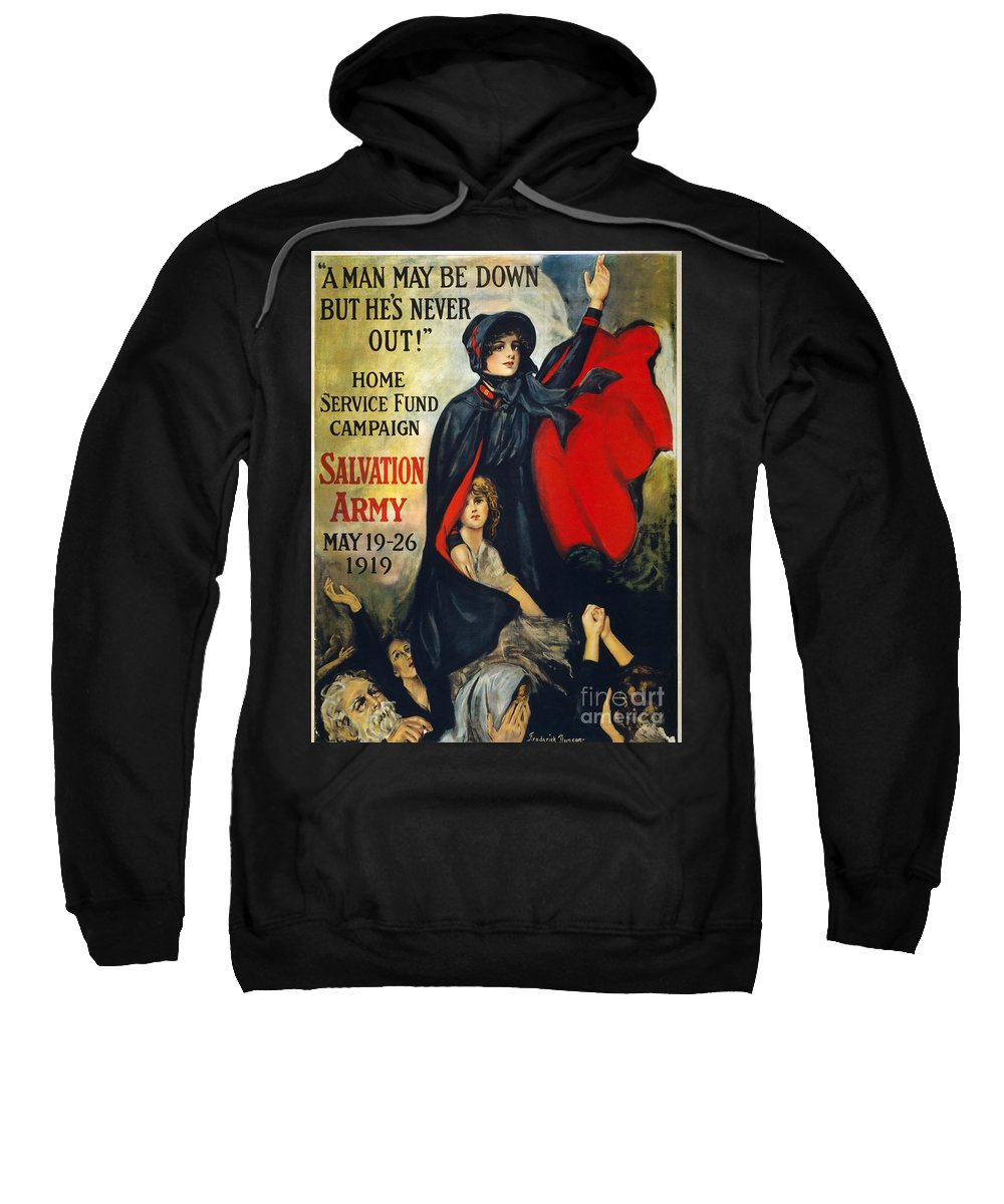 1919 Sweatshirt featuring the photograph Salvation Army Poster, 1919 by Granger