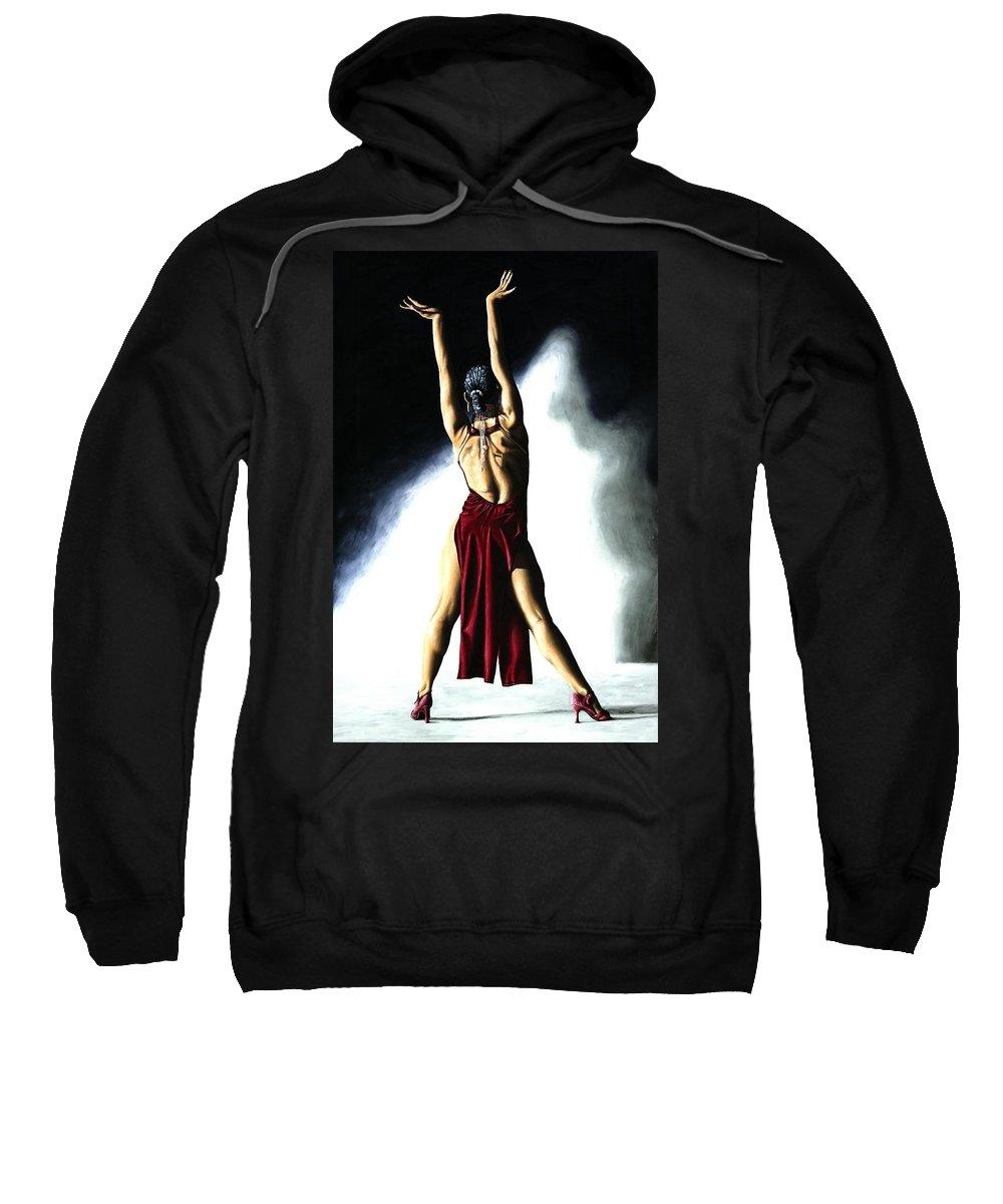 Samba Sweatshirt featuring the painting Samba Celebration by Richard Young
