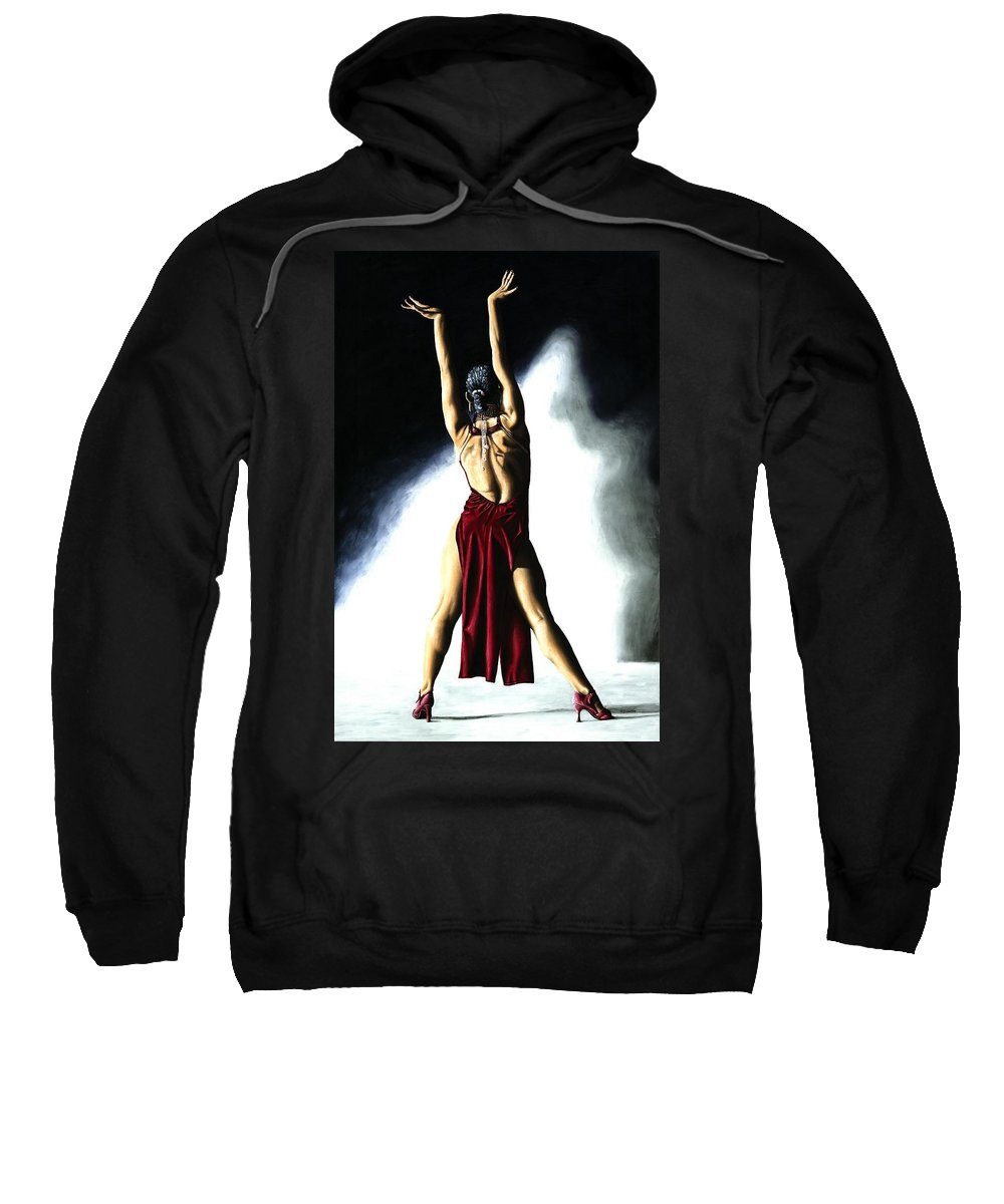 Samba Sweatshirt featuring the painting Samba Celebration by Richard Young