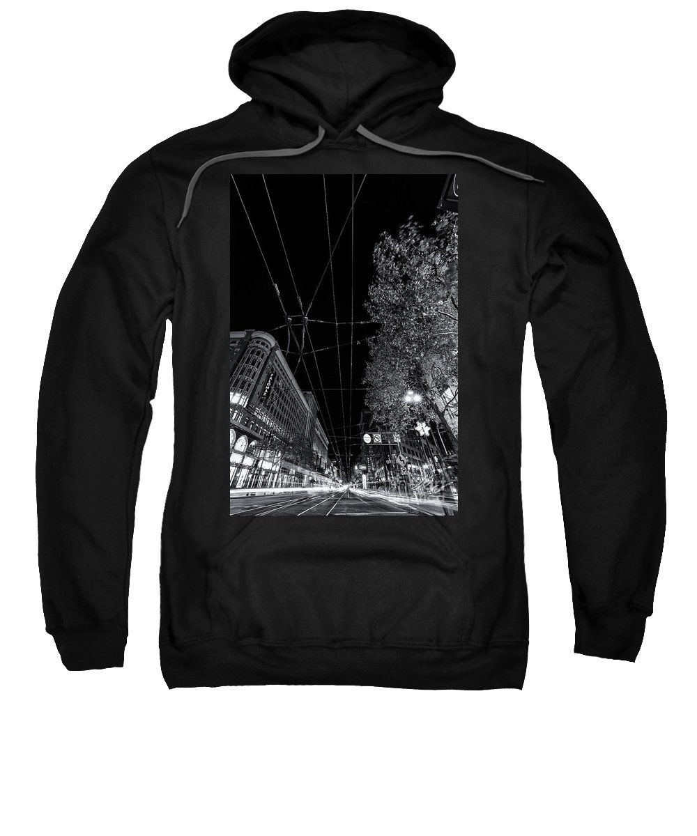 San Francisco In Motion Sweatshirt featuring the photograph San Francisco In Motion by Digital Kulprits