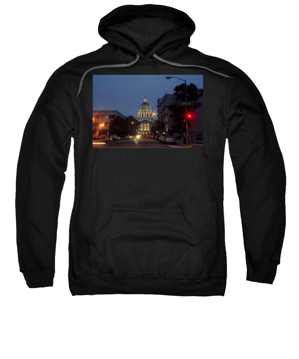 San Francisco Sweatshirt featuring the photograph San Francisgough by Donna Blackhall