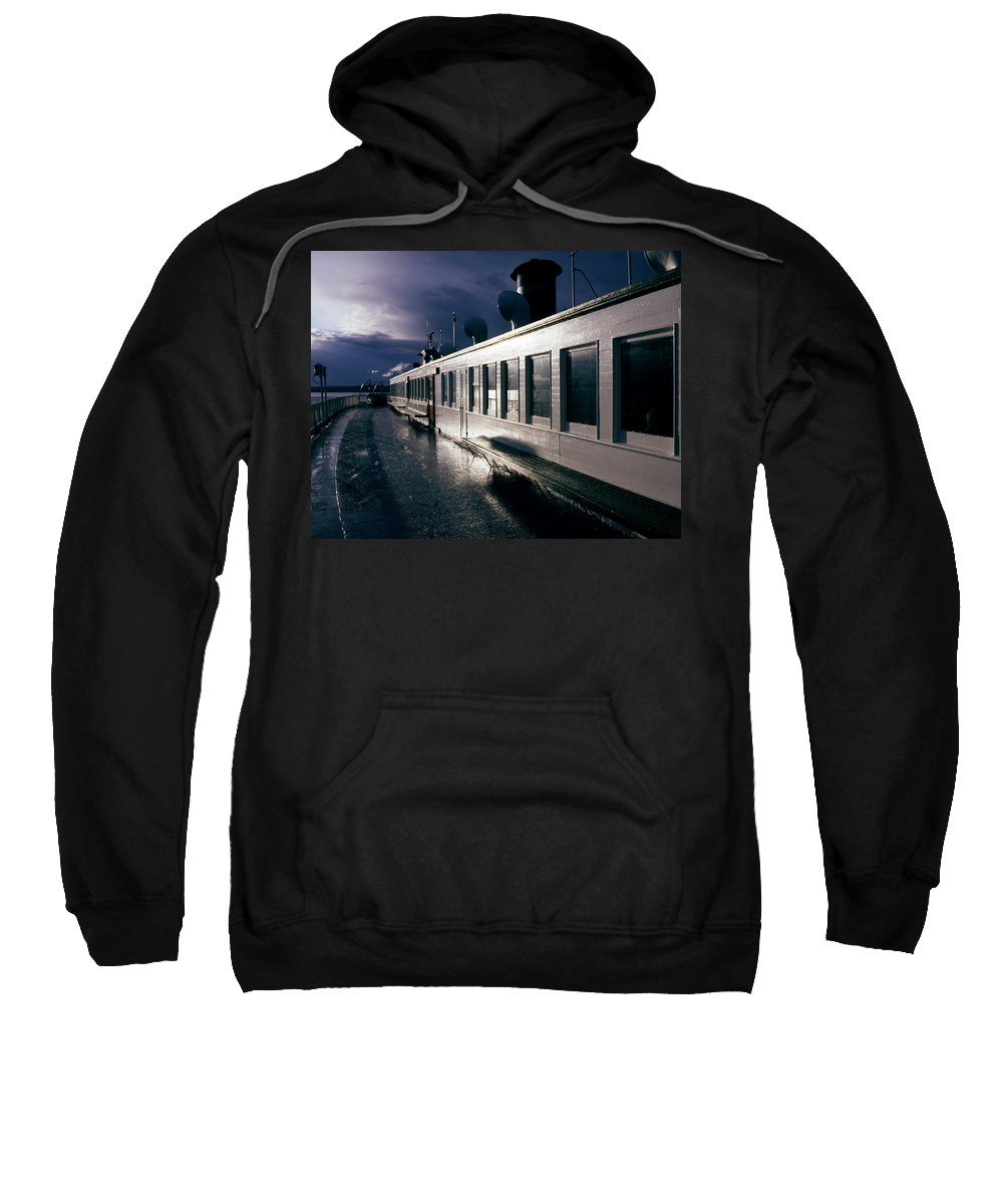 Scenic Sweatshirt featuring the photograph San Juan Islands Ferry by Lee Santa