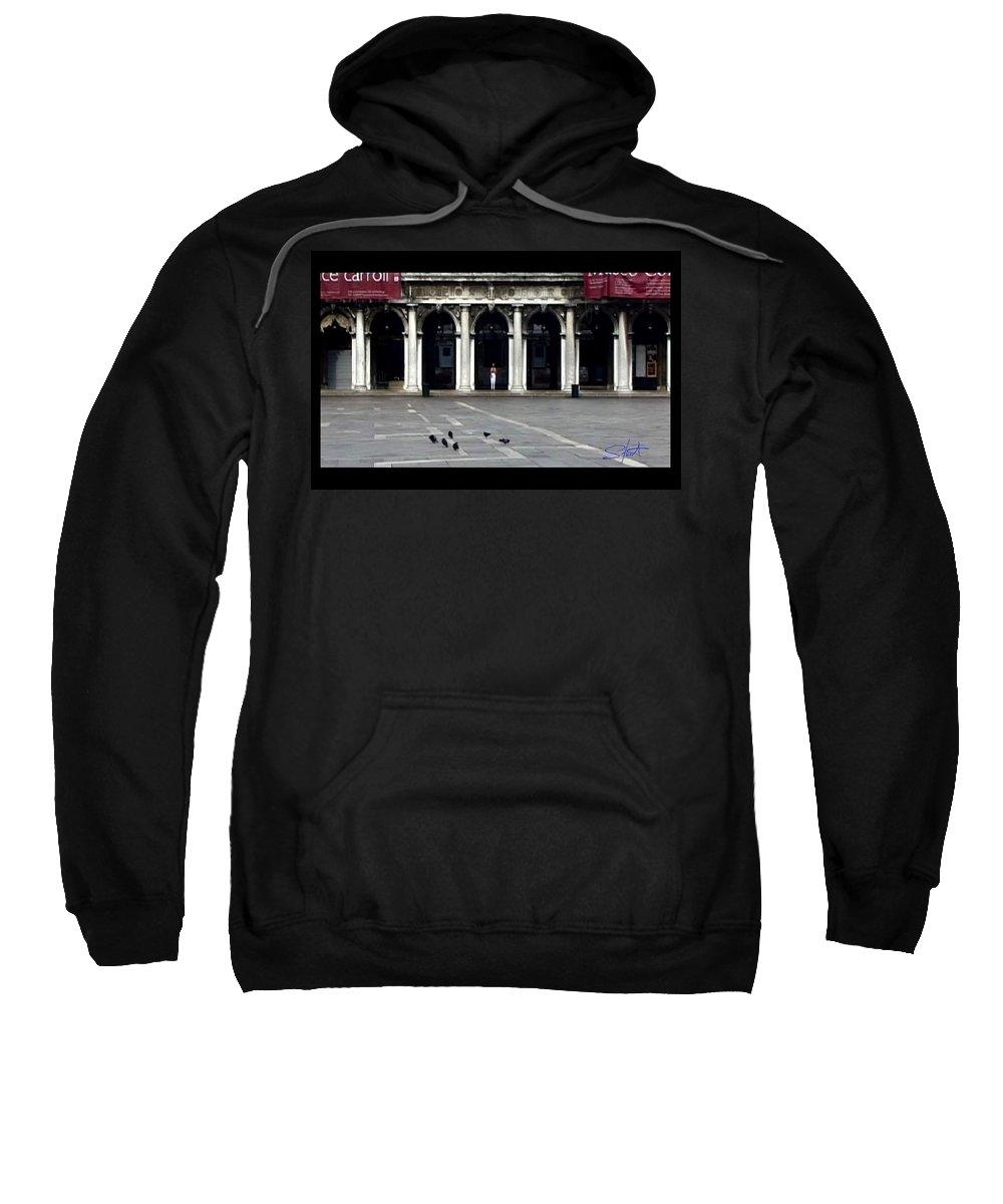 Venice Sweatshirt featuring the photograph San Marco Venice by Charles Stuart