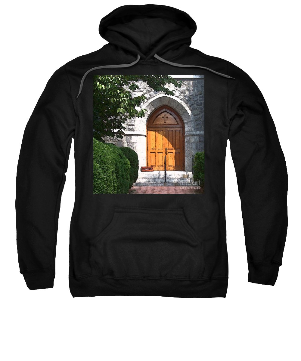 Church Sweatshirt featuring the photograph Sanctuary by Debbi Granruth