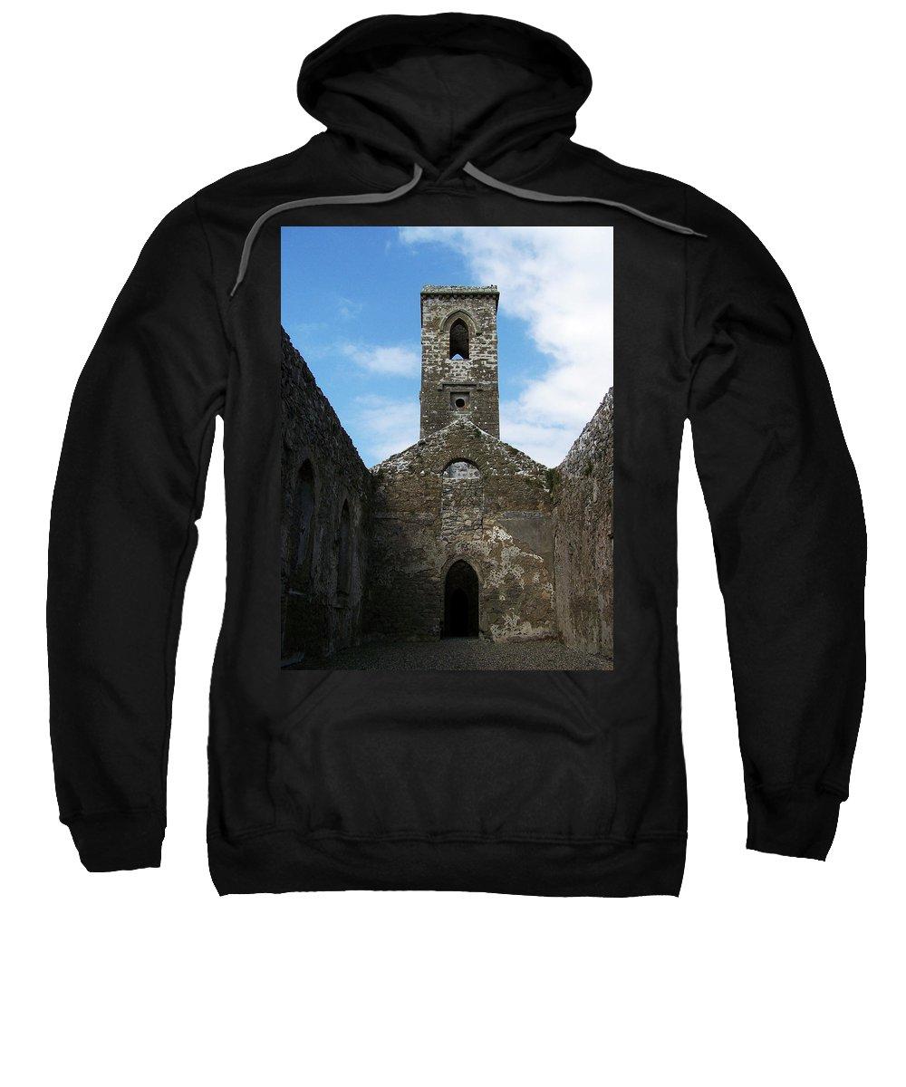 Ireland Sweatshirt featuring the photograph Sanctuary Fuerty Church Roscommon Ireland by Teresa Mucha