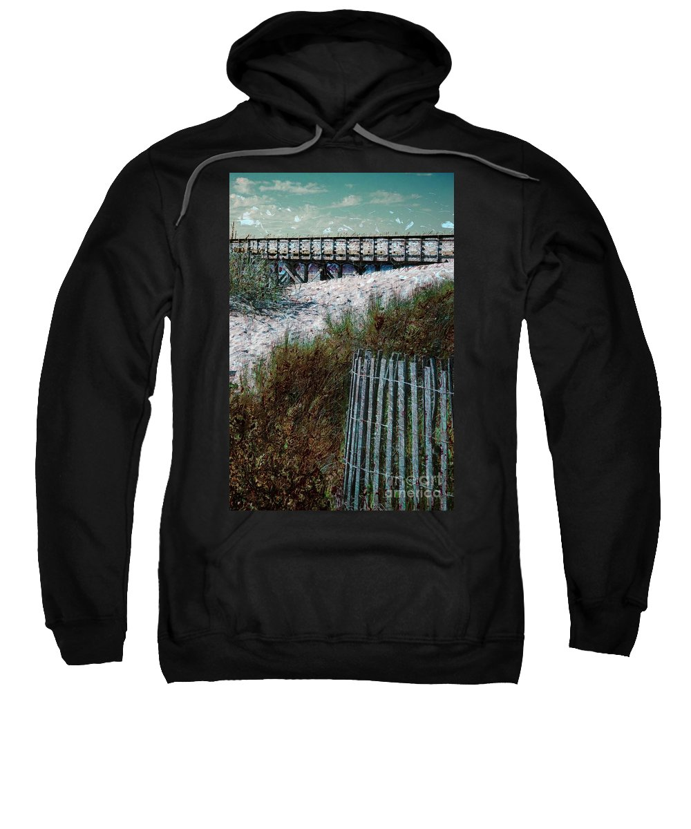 Sand-dunes Sweatshirt featuring the photograph Sand Dunes by Donna Bentley