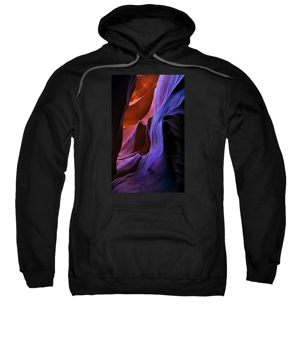 Sandstone Sweatshirt featuring the photograph Sandstone Cascade by Mike Dawson