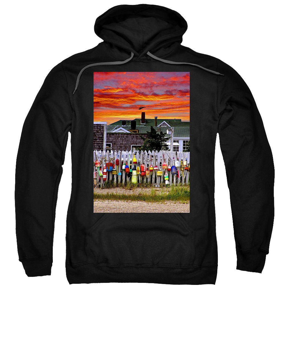 Sandy Neck Sweatshirt featuring the photograph Sandy Neck Sunset by Charles Harden