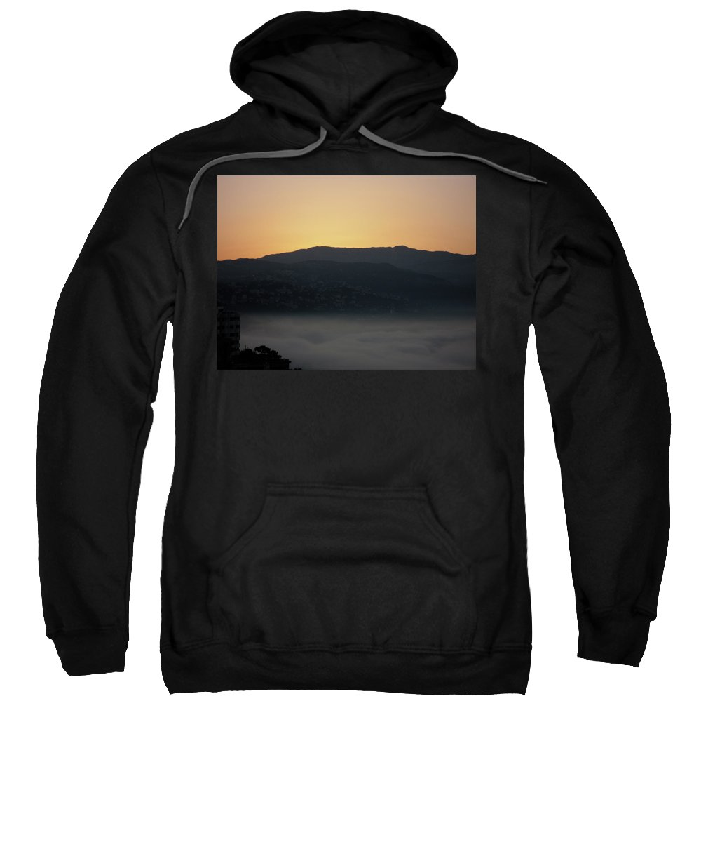 Marwan Sweatshirt featuring the photograph Sannin Sunrise by Marwan George Khoury