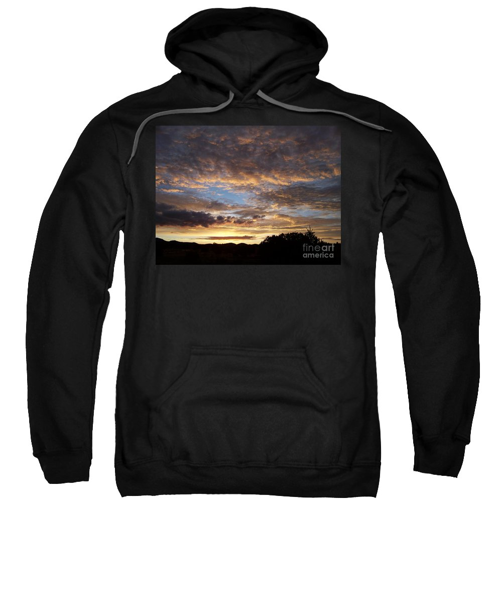 Sunrise Sweatshirt featuring the photograph Santa Fe Sunrise by Brian Commerford