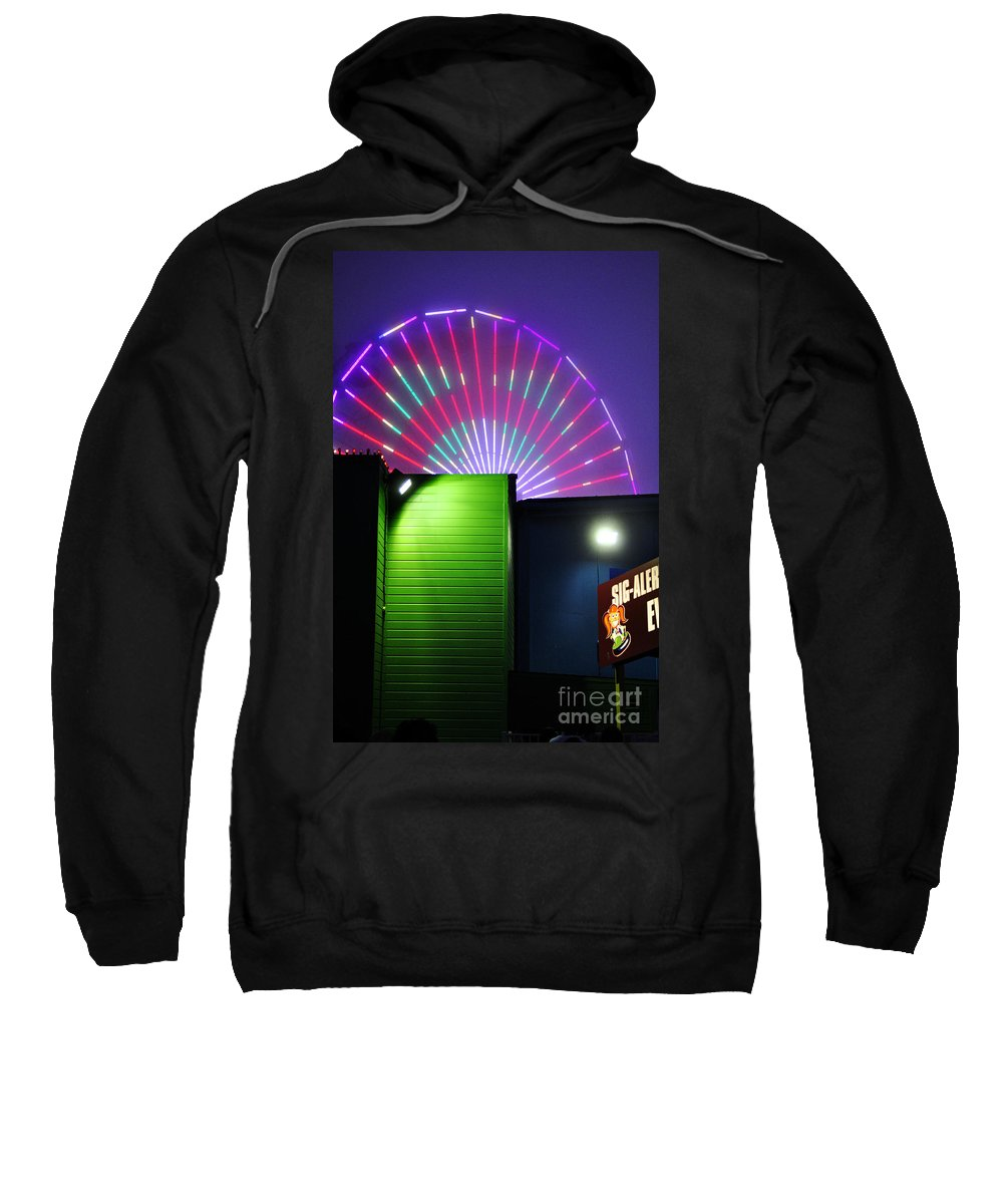 Clay Sweatshirt featuring the photograph Santa Monica Pier After Dark by Clayton Bruster