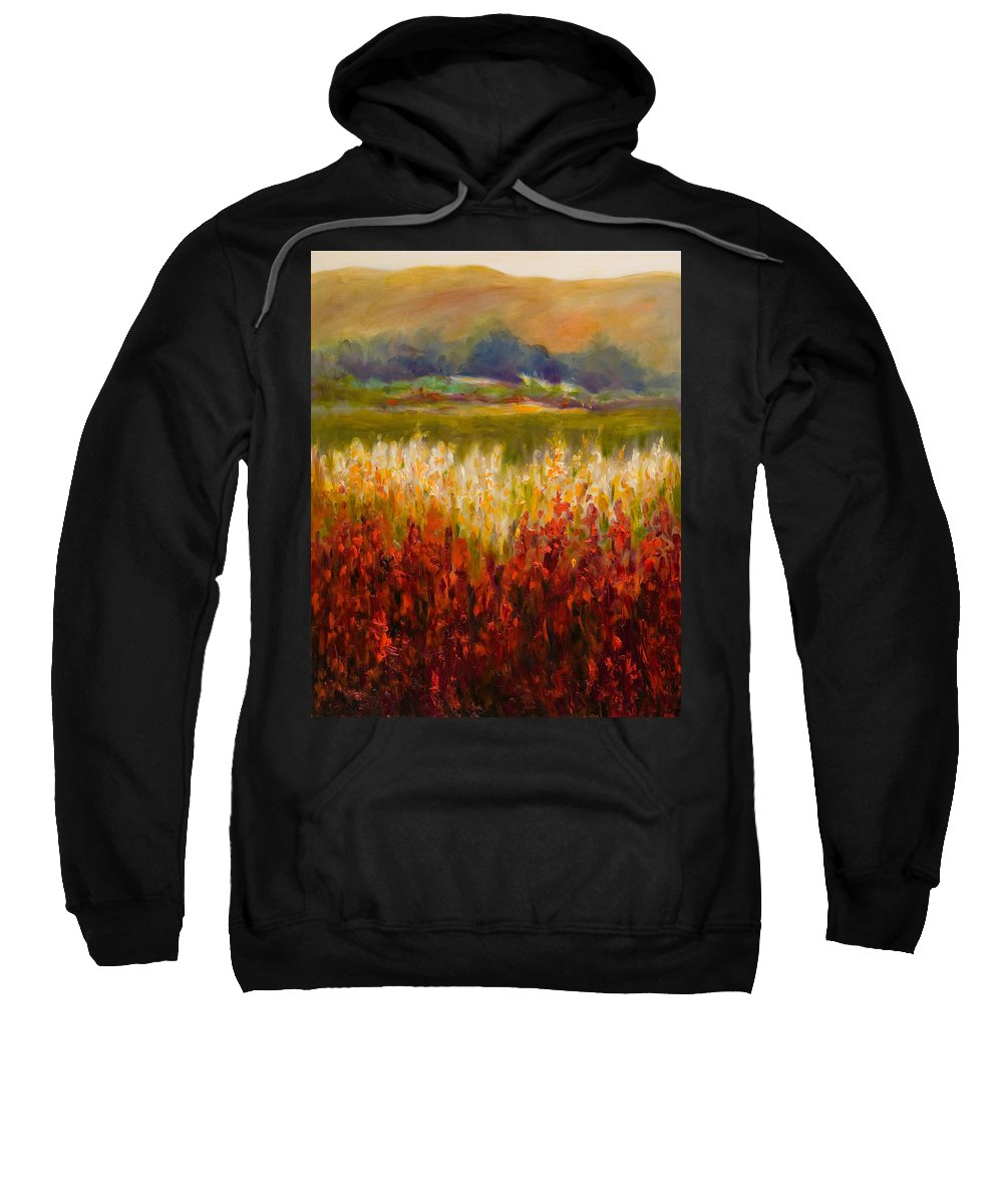 Landscape Sweatshirt featuring the painting Santa Rosa Valley by Shannon Grissom