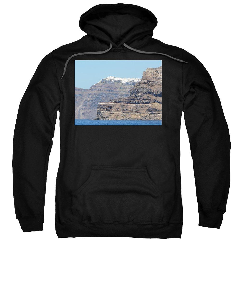 Santorin Sweatshirt featuring the photograph Santorini Fira by Valerie Ornstein