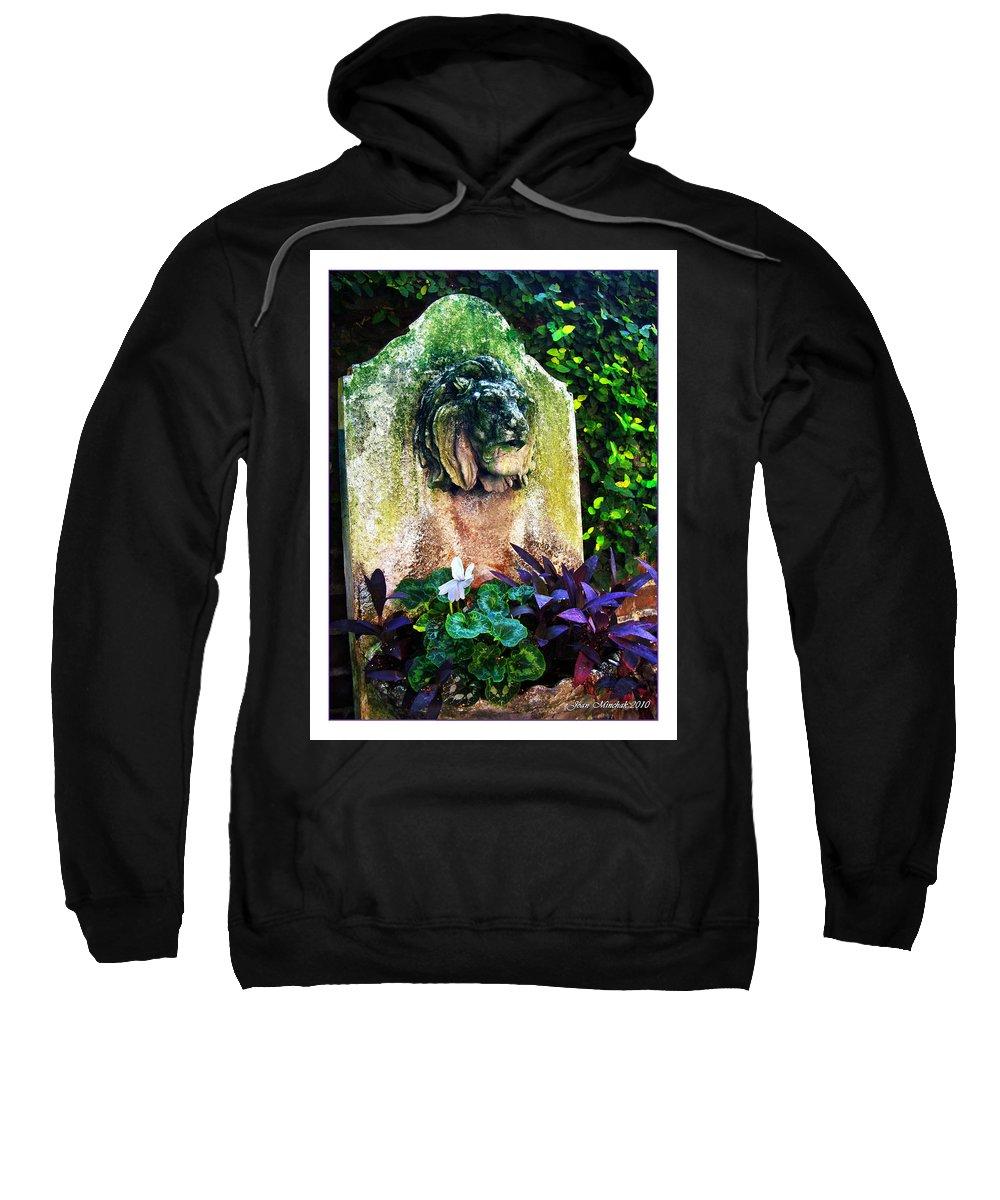 Fountain Sweatshirt featuring the photograph Savannah Fountain by Joan Minchak