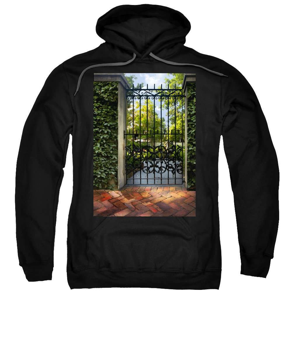 Architecture Sweatshirt featuring the photograph Savannah Gate II by Sharon Foster