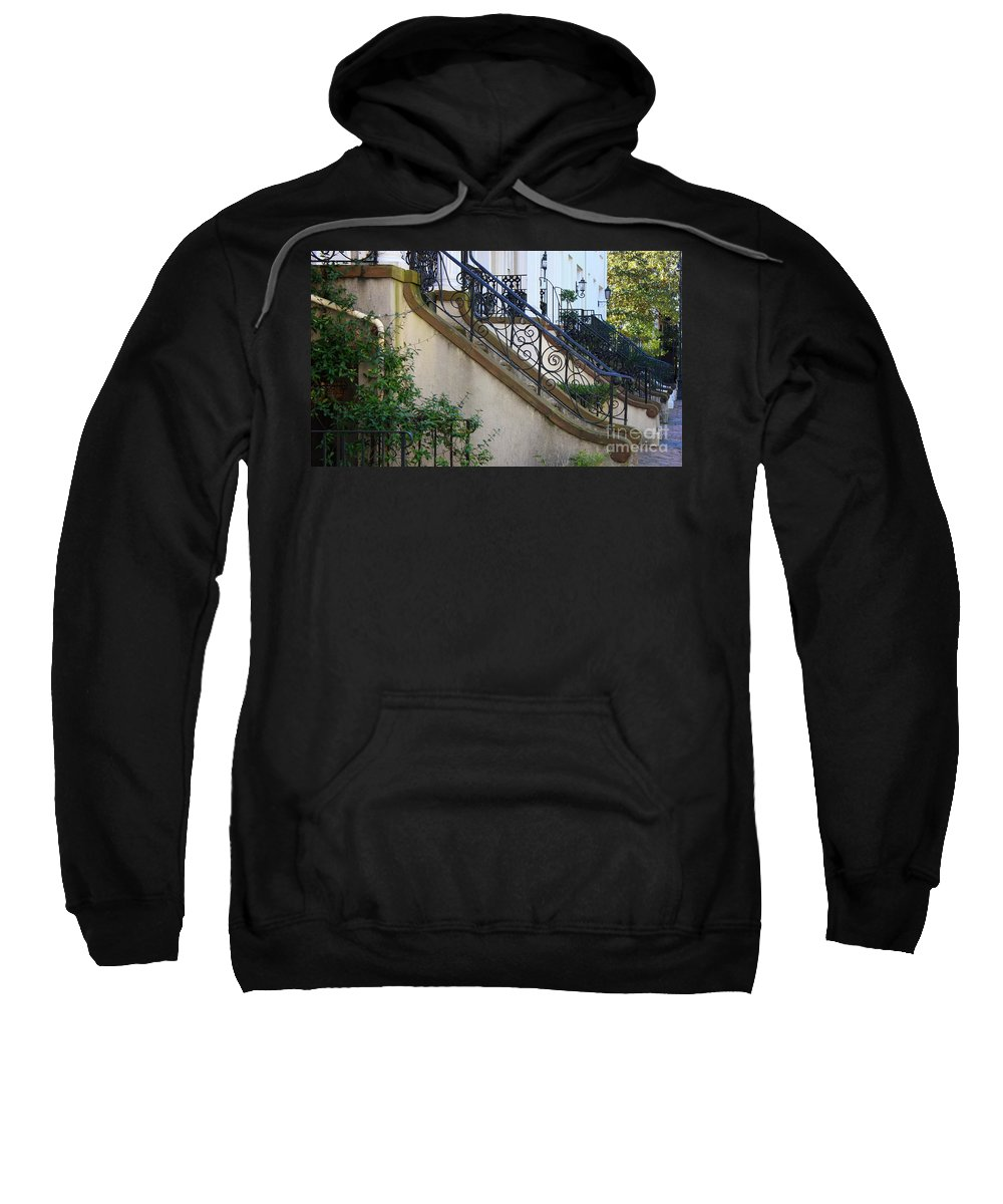 Wrought Iron Sweatshirt featuring the photograph Savannah Stairs by Carol Groenen