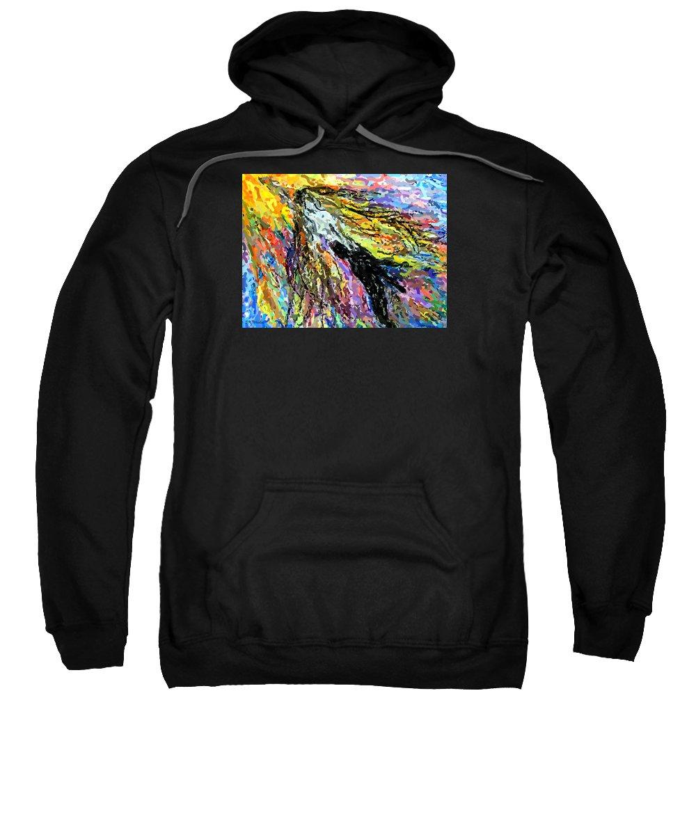 Saving Sweatshirt featuring the digital art Saving Mankind by Sabrina K Wheeler