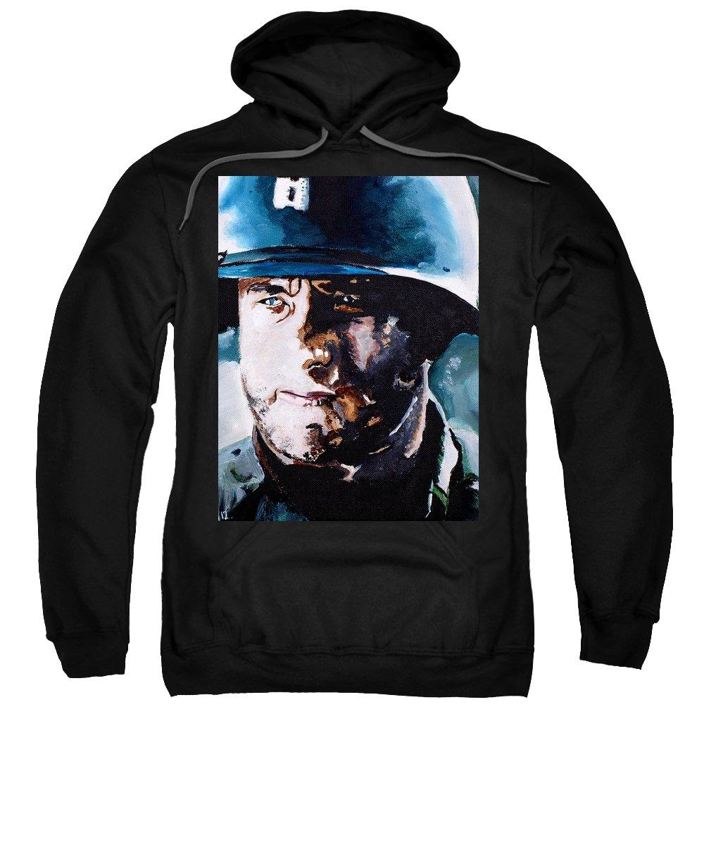 Tom Sweatshirt featuring the painting Saving Private Ryan by Martin Putsey